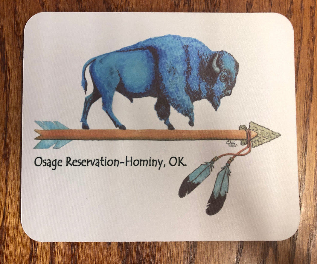 Blue Buffalo Osage Reservation mouse pad