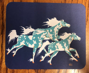 Three Ghost Ponies mouse pad