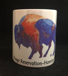 Buffalo Osage Reservation coffee mug