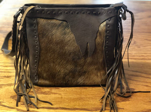 Montana West Delila 100% Genuine Leather Hair-On Hide Collection Handbag