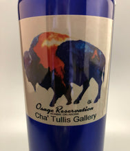 Load image into Gallery viewer, Osage Reservation aluminum water bottle with multi color buffalo