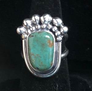 Turquoise sterling silver ring