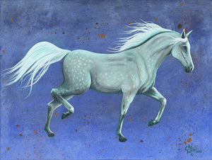 """Moonlight on Ghost Pony"" Giclee print on canvas"