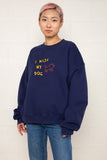 I Miss My Dog Crewneck Sweatshirt - Navy