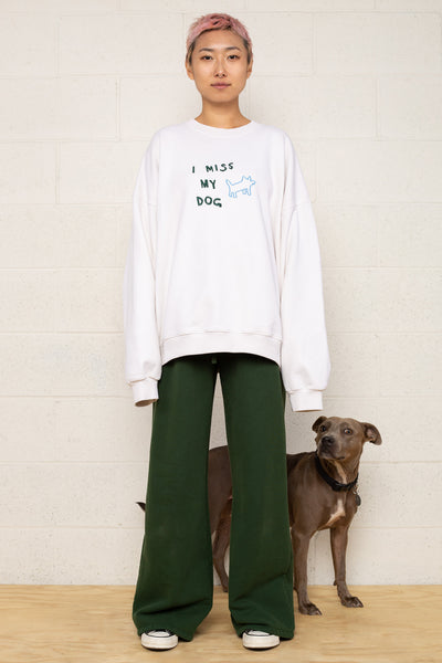 I Miss My Dog Crewneck Sweatshirt - Oatmilk