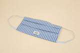 Suzy Mask - Light Blue Gingham - 2 Pack