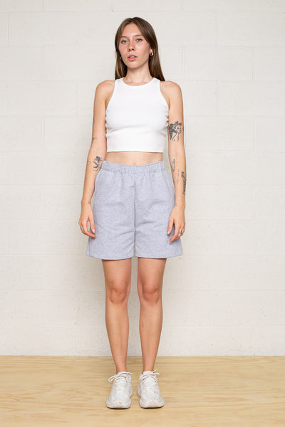 Easy French Terry Sweat Short - H Grey