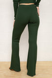 Full Length Flare Rib Pants - Lawn
