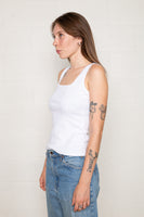 Square Neck Tank (Regular Length) - Ivory