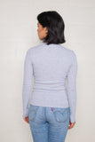 Long Sleeve Rib Top (Regular Length) - H Grey