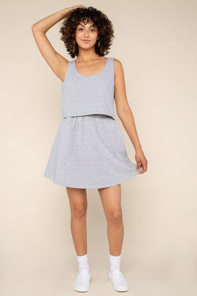French Terry Tank (Crop Length) - H Grey