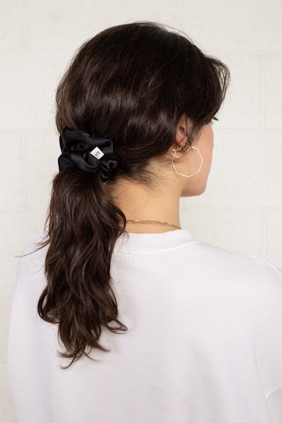 Satin Scrunchie - Black