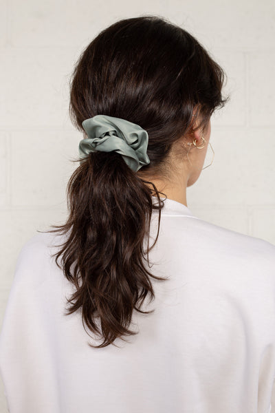 Satin Scrunchie - Sage