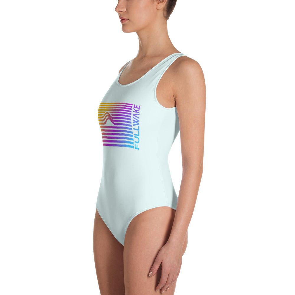 Womens Sunset Wave One-Piece Swimsuit