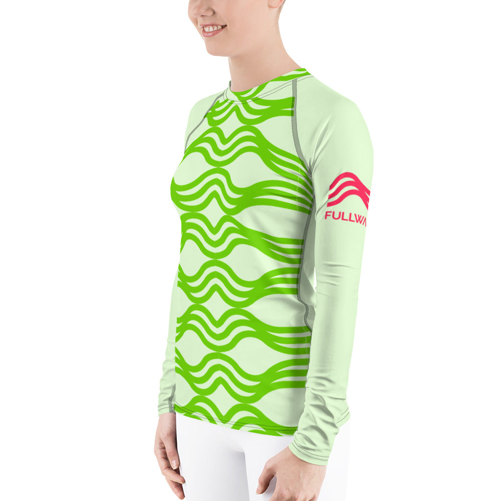 Womens Aquawear Mint Wave Stripes