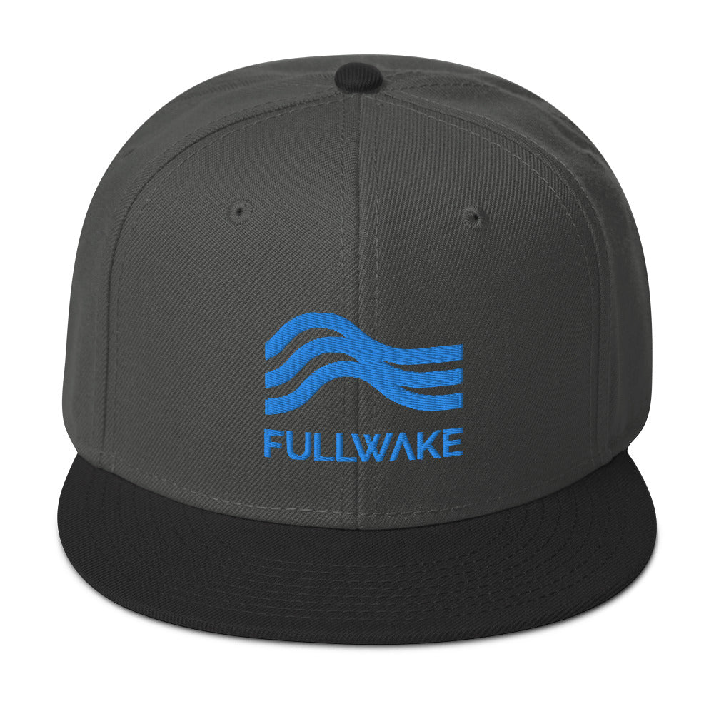 Snapback Hat Powder Blue Emblem