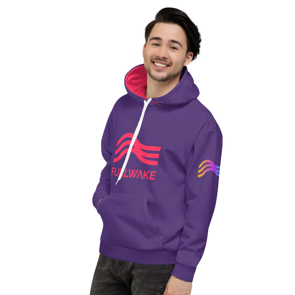 Unisex Full Send Nasa Red/Violet Hoodie