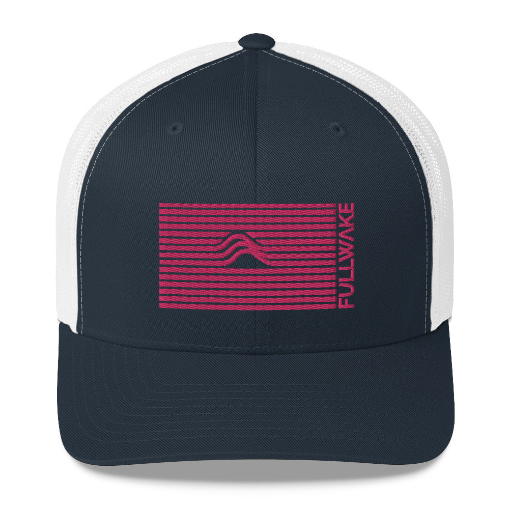 Wave Trucker Hat Nasa Red