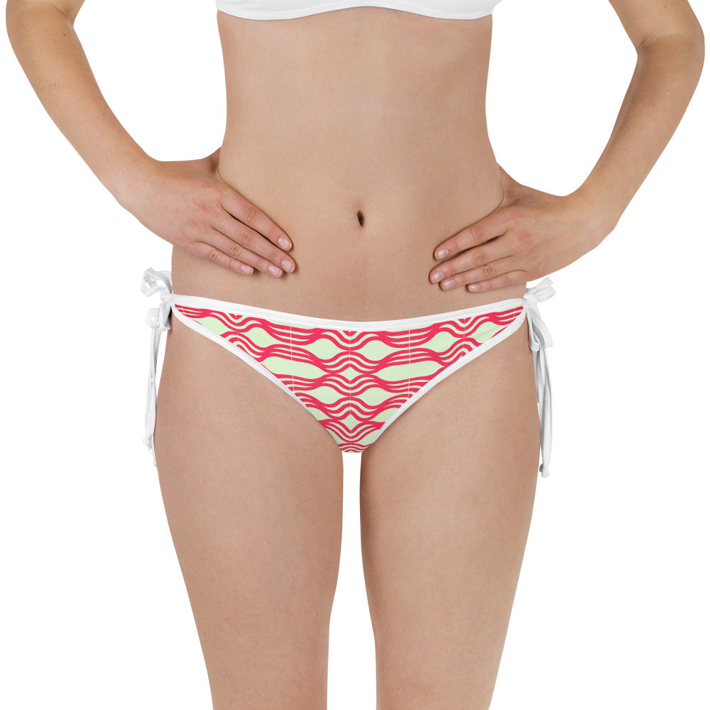 Womens Mint/Red Stripes Bikini Bottom