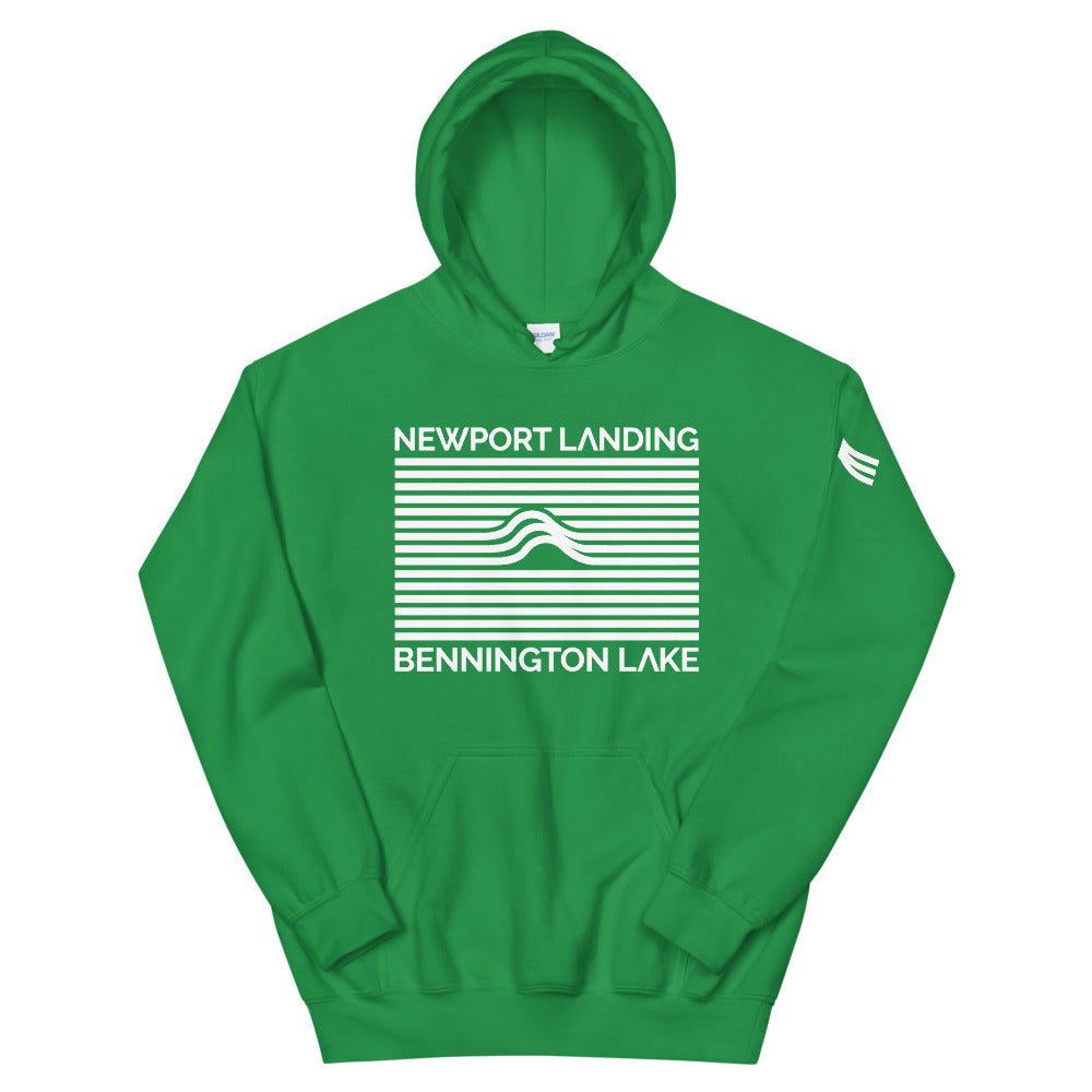 Official Newport Landing Bennington Lake Wave Hoodie