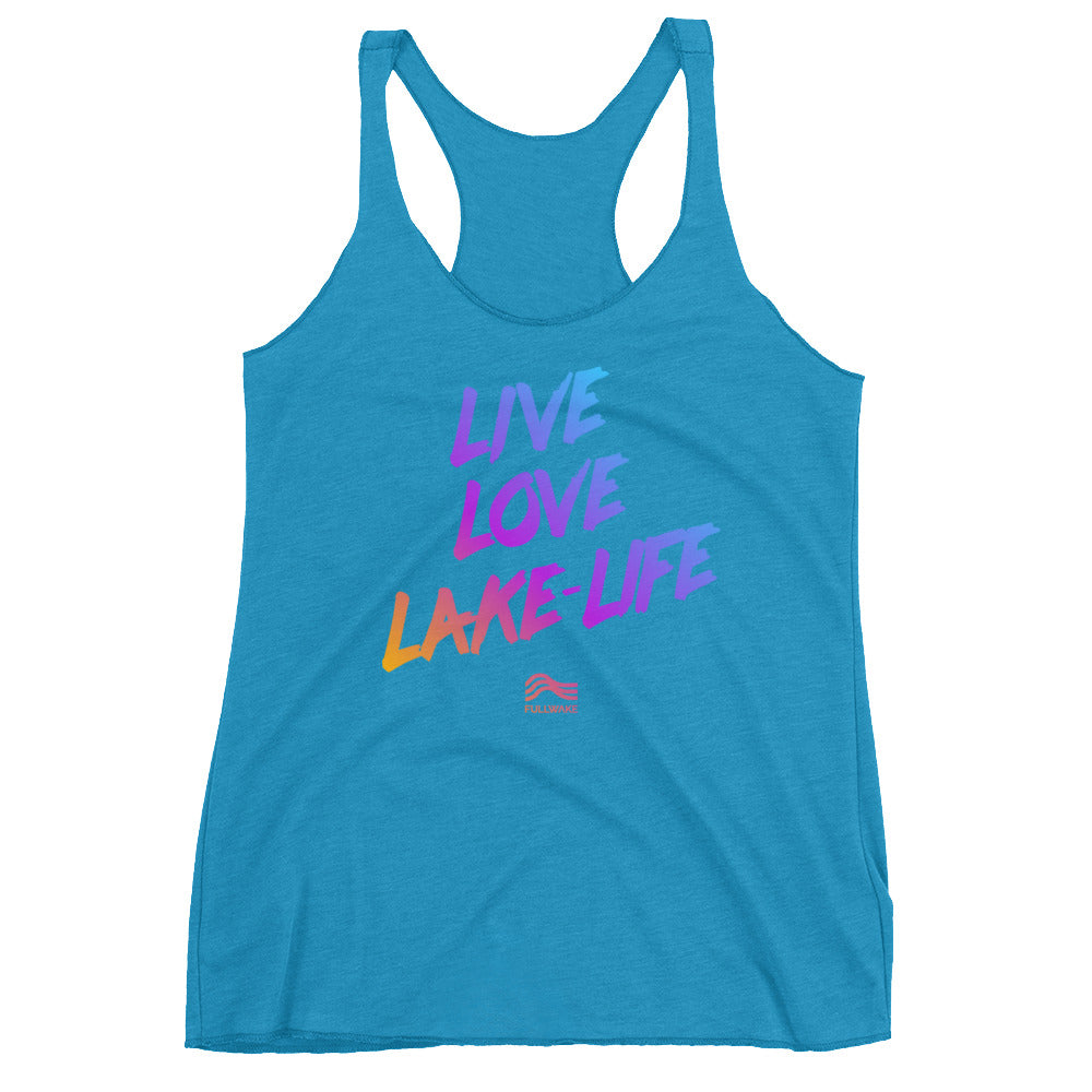 Official Newport Landing Bennington Live Love Lake-Life Sunset Top