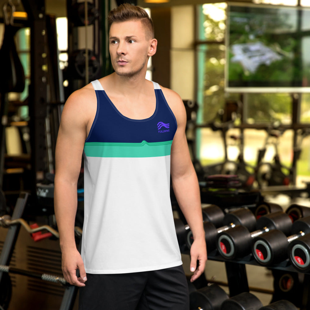 Mens Blue Water Horizon Tank Top