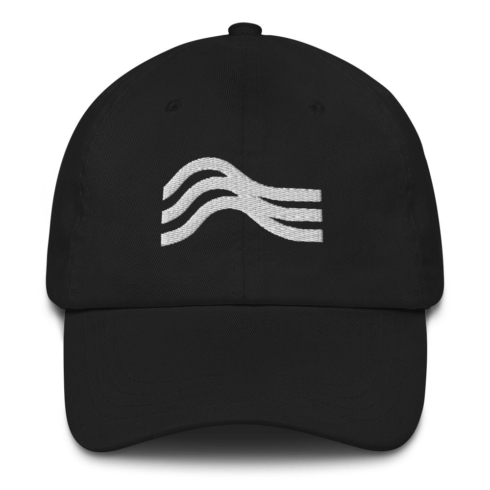 Dad Hat Stealth White Emblem