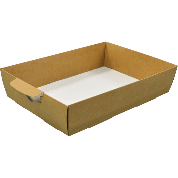 A Gift Box base and Insert with Window Kraft 38x28x10cm Medium