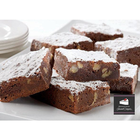 Chocolate American Brownie Tray Cake Pre-sliced 15 x 68g Frozen Priestleys