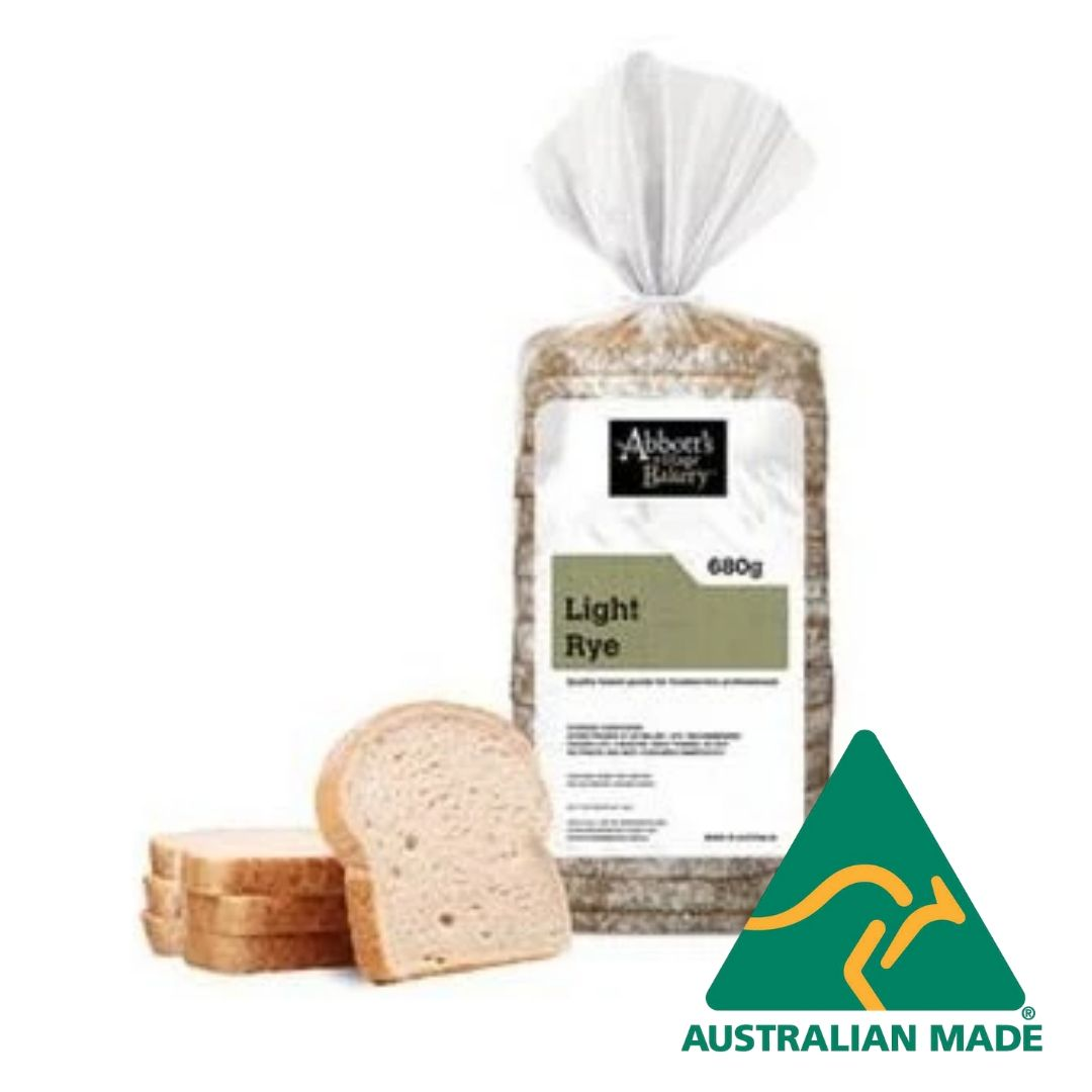 Bread Sliced Light Rye  650g Abbott's**Family Favourite
