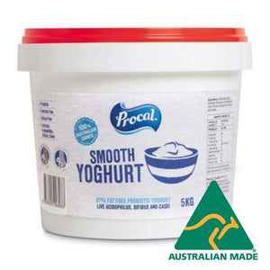 Yoghurt Sweetened Smooth 5kg Procal 97% Fat Free **Value Buy