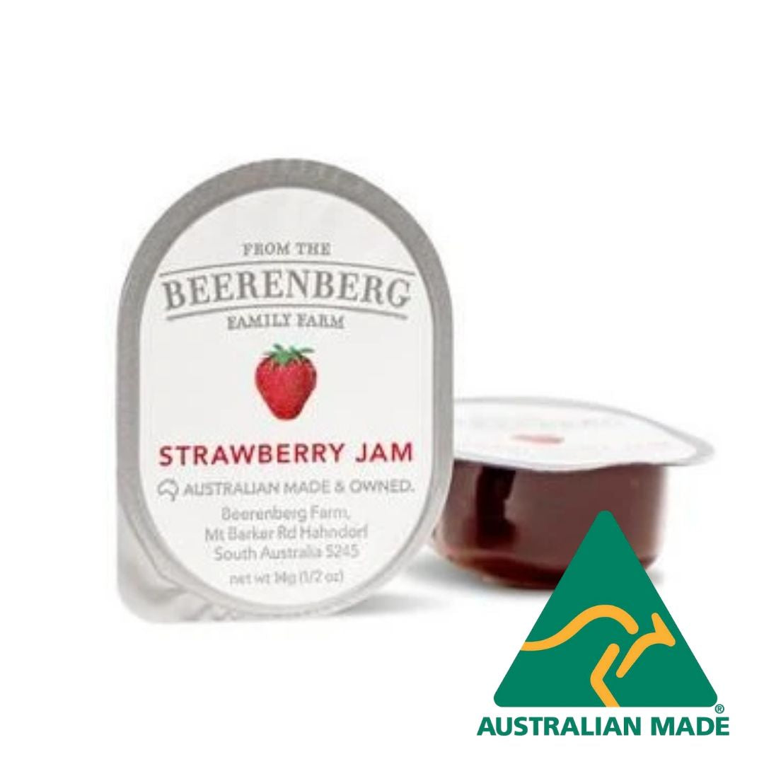 Jam Strawberry Individual Portion Control 48 x 14g Beerenberg