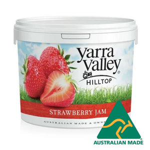 Jam Strawberry Plastic Tub 2.5kg Yarra Valley