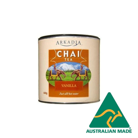 Chai Latte Powder Vanilla 440g Arkadia 98% Fat Free