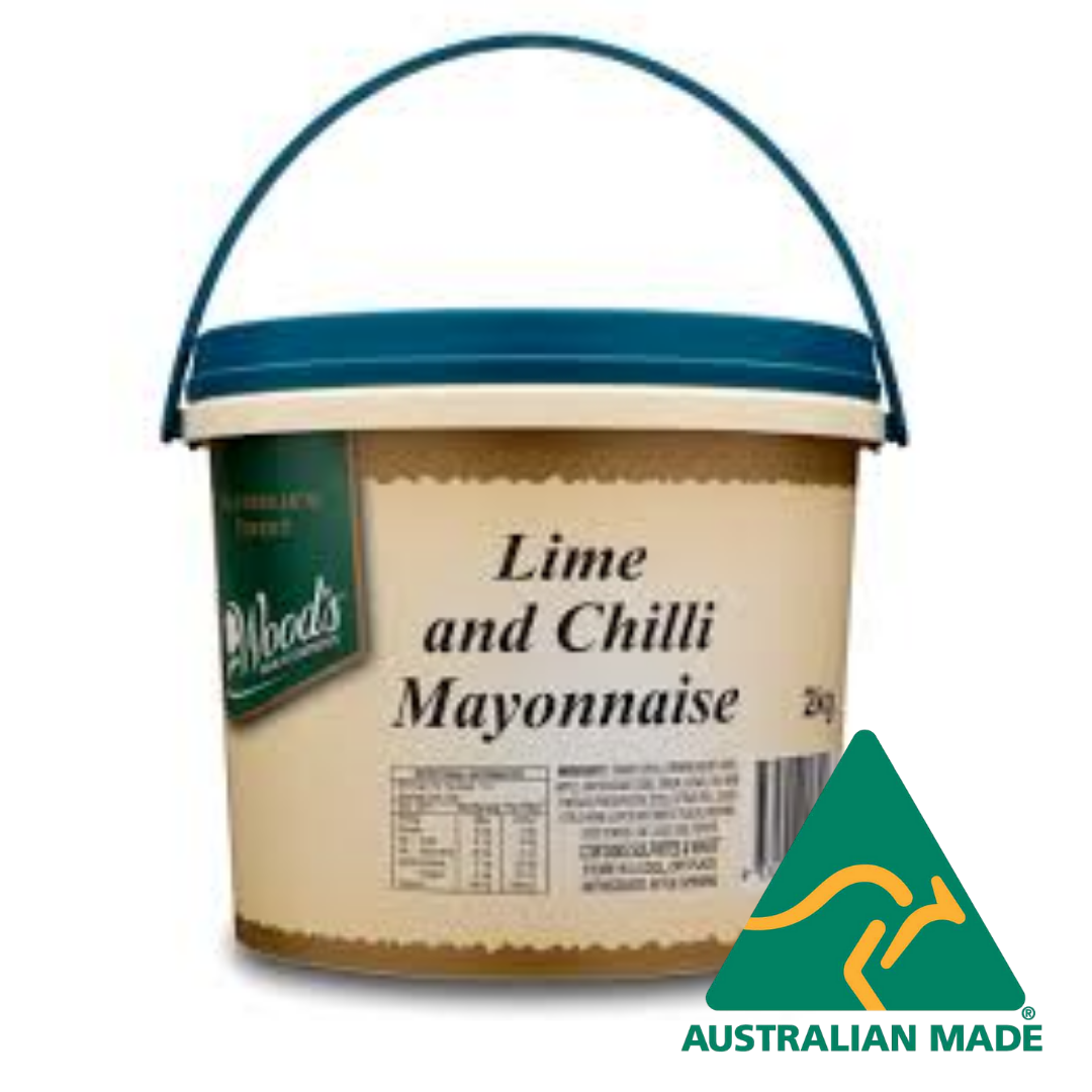 Mayonnaise Lime And Chilli Gluten Free 2kg Woods