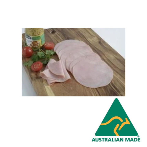 Ham Leg Prager Smoked Sliced 1kg Gluten Free Zammit **Value Buy