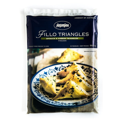 Cheese and Spinach Triangles 30's Frozen Antoniou