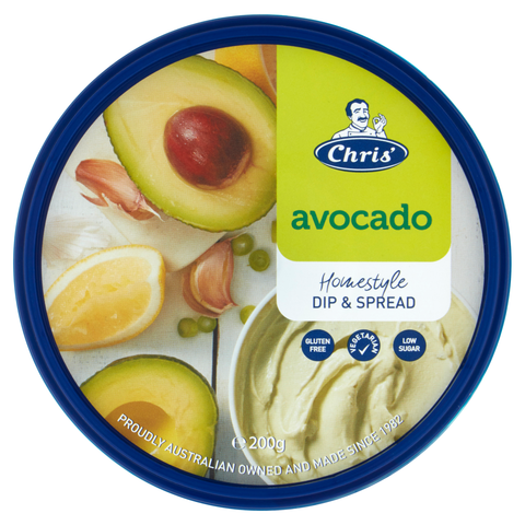 Avocado Dip Homestyle Gluten Free 1kg Chris
