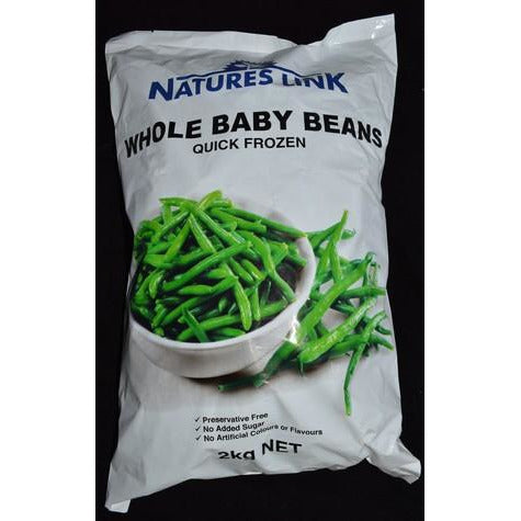 Beans Green Whole Baby 2kg Frozen Natureslink