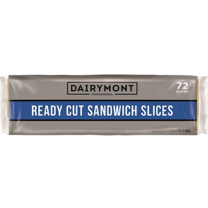 Cheese Sliced Cheddar Readycut 72s 1.5kg Dairymont