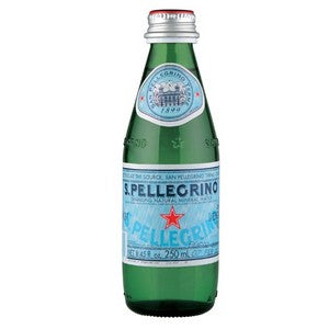 Mineral Water Sparkling Glass Bottle 24 x 250ml San Pellegrino