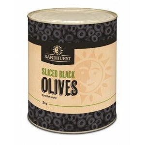 Olives Spanish Sliced Black 3kg Sandhurst