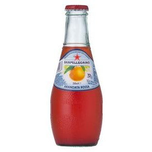 Aranciata Rossa Glass Bottles 24 x 200ml San Pellegrino