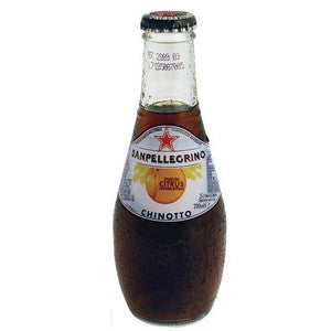 Chinotto Glass Bottles 24 x 200ml San Pellegrino