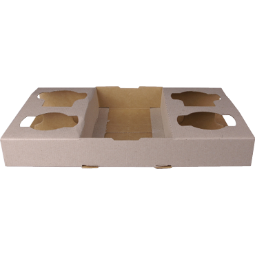 Cardboard Coffee 2/4 Cup Drink Tray 100 Castaway