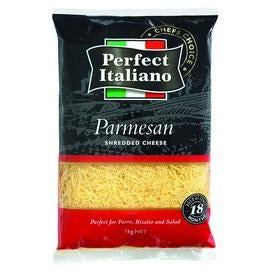 Parmesan Cheese Shredded 1kg Perfect Italiano