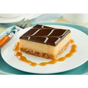 Caramel Slice Tray Cake Pre Sliced 15 x 130g Frozen Priestleys