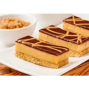 Caramel Slice Gluten FreeTray Cake Pre Sliced 15 x 122g Frozen Priestleys