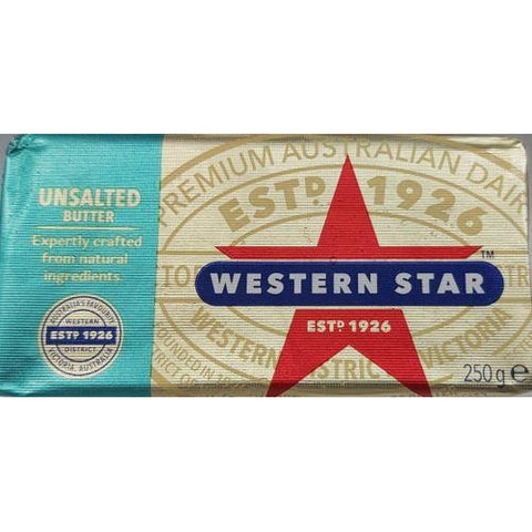 Butter Unsalted 250g Western Star