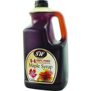 Maple Syrup Canadian Pure 1.85L S & W